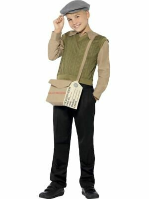 Childs Evacuee Boy Kit World War Two Fancy Dress Costume Jumper Top Bag & Id Tag • 11.99£