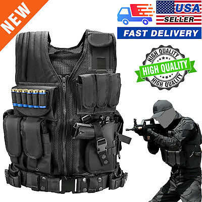 $29.99 • Buy US Military Vest Tactical Holster Police Molle Assault Combat Gear