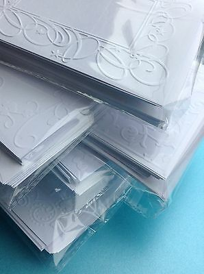 30 Embossed Blank Cards And Envelopes Craft Card Making Bundle ClearOut Job Lot • 5.90£