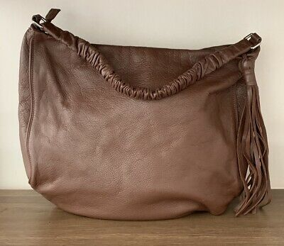 AU30 • Buy Oroton Large Furtuna Leather Hobo Handbag In Tan