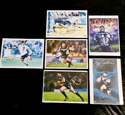 AU62.91 • Buy Signed North Queensland Cowboys Rugby League - NRL - Repo Pictures - Posters X 6