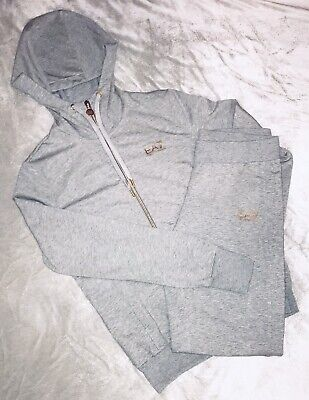 Armani EA7 Grey And Gold Womans Full Tracksuit BNWOT Hoodie And Joggers  • 40£