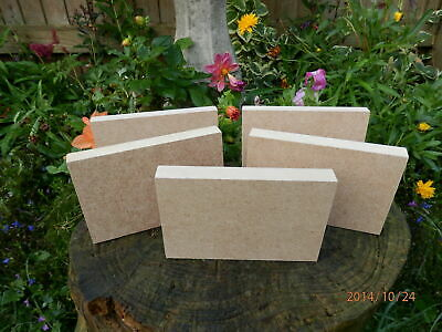 5 X Freestanding 7  X 5  X 18mm Thick  MDF Wooden Rectangle Blocks Quality Made • 8.99£