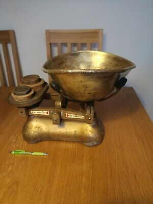 £50 • Buy Vintage W & T Avery Ltd Weighing Scales (with Cast Iron And Brass Weights)