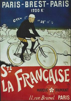 £3.99 • Buy Vintage La Francais French Cycle Sports Print Poster Wall Art Picture A4 +