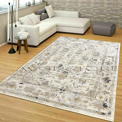 Traditional Floral Rugs Modern Living Room Rugs Cream Grey Mats 160 X 230 Cm   • 110.95£
