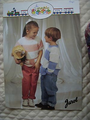 324/   Jarol Knitting Patterns Child's Striped Tunic & Sweater 20 -34  DK Wool • 1.10£