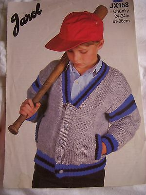172/   Jarol Knitting Patterns CHUNKY JACKET 24 -34   • 1.10£
