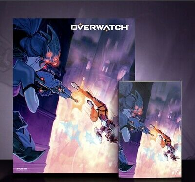 $ CDN152.22 • Buy Overwatch Tracer London Calling #1 Exclusive Variant Bundle Fine Art Lithograph