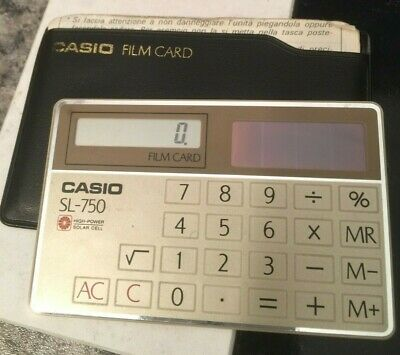 Vintage CASIO SL-750 Credit Card Solar Power Calculator • 15£