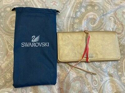 Genuine Swarovski Gold Diamonte, Pink Lined, Jewellery Roll Brand New • 3.50£