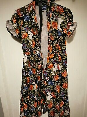 Collectif Vintage Caterina Forest Floral Swing Dress Size 18 • 20£