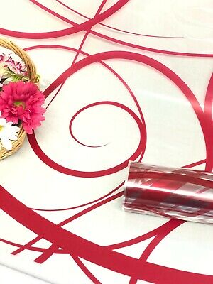 £1.95 • Buy Red Swirls Cellophane Wrapping Paper   Wedding Birthday Christmas Hampers Wrap