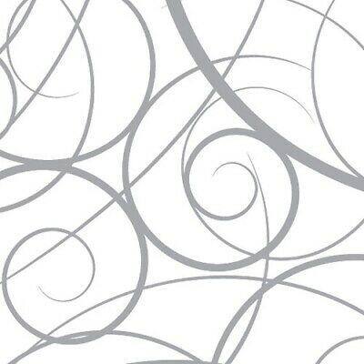 £2.65 • Buy Silver Swirls Cellophane Wrapping Paper Wedding Birthday Christmas Hampers Wrap