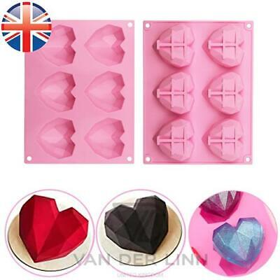 £3.38 • Buy Silicone 3D Heart Cookies Chocolate Jelly Fondant Baking Soap Tray Mould Mold
