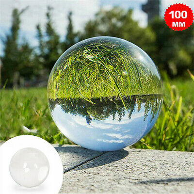 £8.99 • Buy 100mm Clear Crystal Ball | Glass Lens Sphere | Photography & Decoration | UK