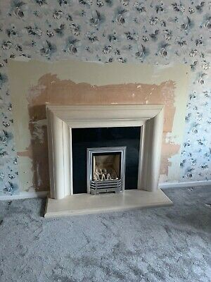 Natural Limestone Fireplace Surround And Hearth • 350£