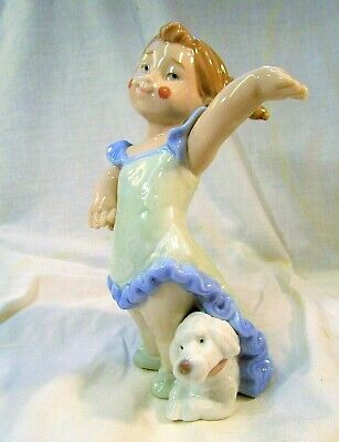 Lladro/Nao   GRAND FINALE   Pretty Little Girl Clown With Puppy Dog   No 1494. • 4.99£