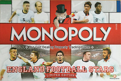 £29.99 • Buy Monopoly-england Football Stars Limited Edition By Hasbro 2-6 Players Age 8+