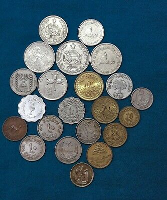 Job Lot Of 23 Middle Eastern / Arabic Coins, • 4.99£