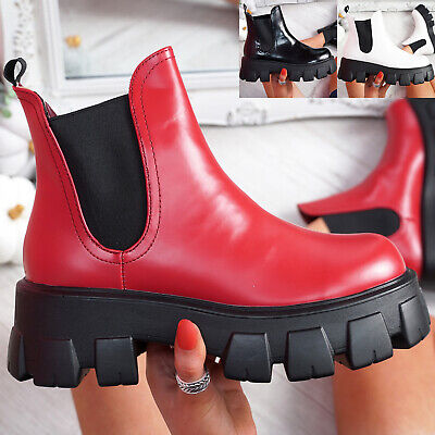 £16.99 • Buy Womens Ladies Chunky Ankle Boots Chelsea Platform Elastic Gussets Women Shoes
