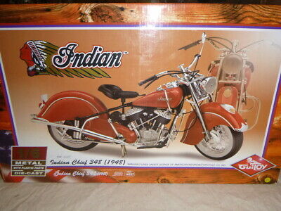 Guiloy A 1/6 Scale Model Of A Indian Chief 348 Motorcycle, Boxed  • 156£