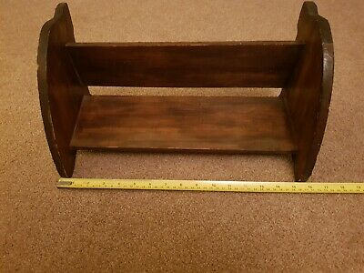 Vintage Wooden Book Trough Shelf • 20£