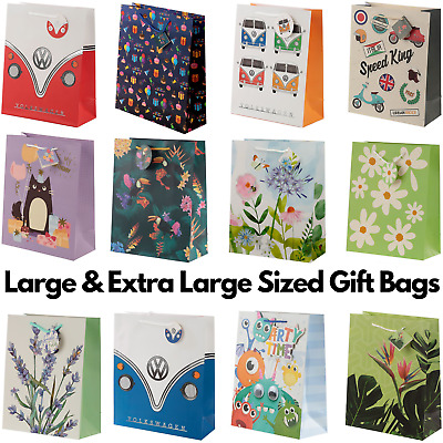 Large & Extra Large Party Celebration Gift Bag Card Tag Present Birthday Wedding • 2.76£