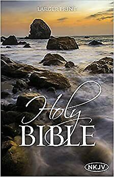 NKJV Holy Bible By Thomas Nelson Larger Print Paperback Plan Of Salvation Book • 5.28£