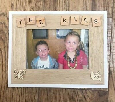 Handmade Scrabble Picture Frame - Any Name Any Message Novelty Gift • 14.95£