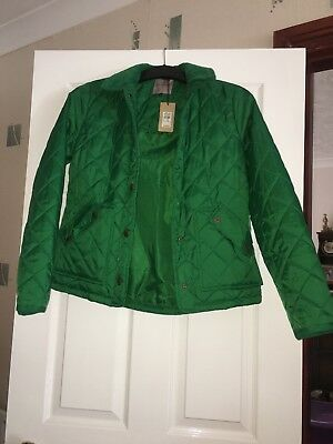 Brand New River Island Women's Quilted Jacket With Shop Tags In Green Size 10 • 20£