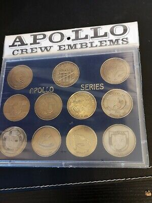 NASA Space Astronaut Mission Patch Coin Set Apollo Moon Armstrong Aldrin Vintage • 30£