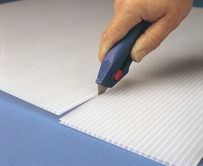 £35 • Buy Correx Corrugated Plastic Sheet X 1  White Fire Rated 2mm 1.2m X 2.4m UK Made
