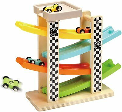 £13.99 • Buy Wooden Car Ramp Toys For 1 2 Year Old Boy Gifts, First Birthday Present For Kids