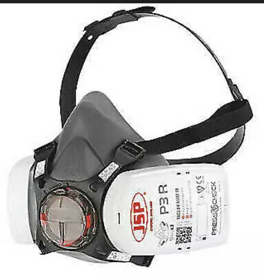 JSP Force 8 (Medium) Protective Safety Mask P3 PressToCheck Filters Included • 16.99£