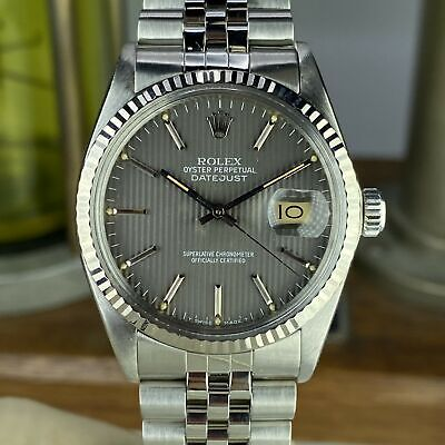 $ CDN6643.87 • Buy 1985 Vintage Rolex Datejust 16014 With Gray Dial