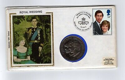 Colorano Silk - CHARLES & DIANA ROYAL WEDDING STAMP AND COIN  • 0.99£