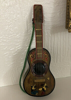Musical Swiss Wooden Guitar Spainish Jewellery Box Good Condition • 9£