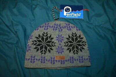 £6.10 • Buy PENFIELD New Snowflake Gray Acrylic Knit Winter Cap Hat One Size Fits Most