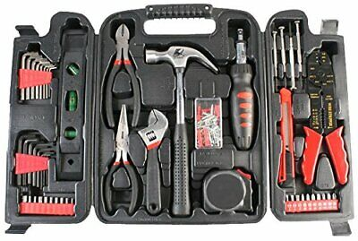 Duratool 14956TL Household Tool Kit In Blow Moulded Carry Case - Black • 32.99£