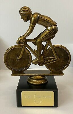 £7.99 • Buy Cycling TROPHY AWARD Marble Base 16cm IN SIZE FREE ENGRAVING