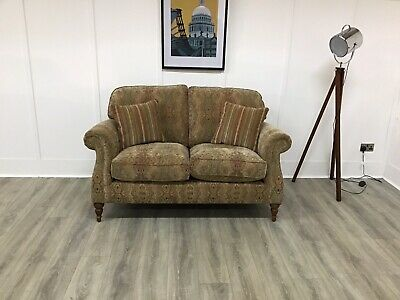£1099 • Buy Parker Knoll 2 Seat Seater Sofa In Gold Patterned Fabric (Westbury)