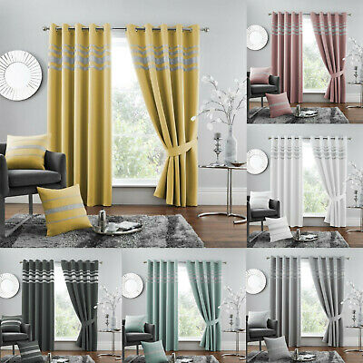 Diamante Thermal Blackout Pair Curtain Eyelet Ring Top Thermal Sparkle Curtains • 35.99£