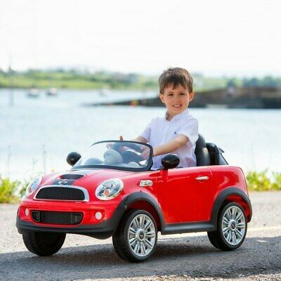 Red Mini Cooper 6V Electric Ride On With Remote Control Kids Boys Outdoor Car • 164.99£