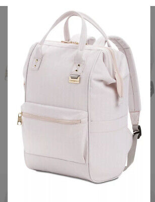 Swiss Gear Backpack Salmon Doctors Bag W/ Rose Gold Hardware NWT • 41.50£