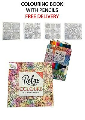 Adult Colouring Book. Relax Colour. Watercolour.  With  Pencils. Tallon • 4.95£