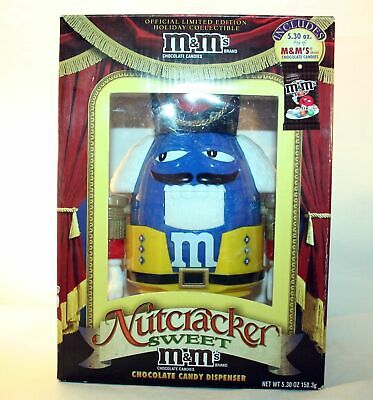 £11.35 • Buy M&Ms Nutcracker Sweet Chocolate Candy Dispenser Limited Edition Blue M&M's
