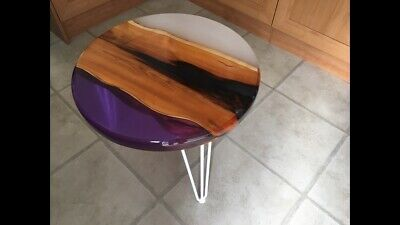£200 • Buy Handmade Small River Table English Yew 55cm Diameter - Will Deliver At Cost