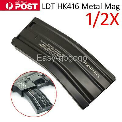 AU35.99 • Buy LDT HK416 Metal Mag Toy Nylon Magazine Replacement For Gel Blaster OZ