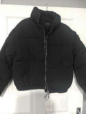 AU70.51 • Buy Bershka Ladies Black Quilted Puffa Jacket Size 12-14